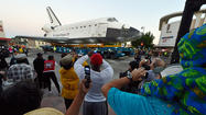 Endeavour draws young and old to the streets of Los Angeles