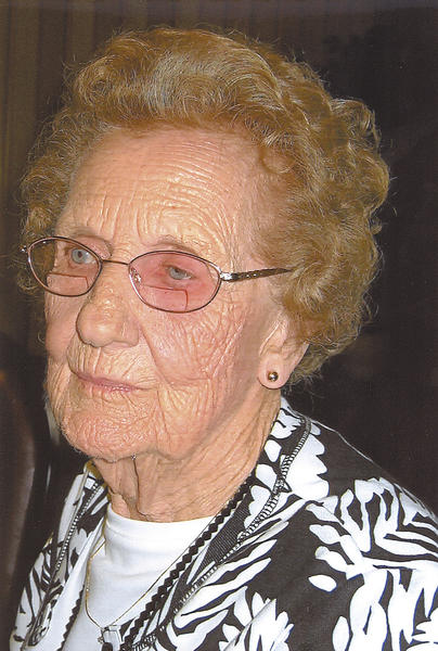 Mary Shifler is shown in this picture taken on her 95th birthday.