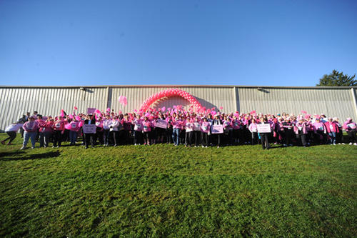 Over 5,000 women and their families gather for the 20th Annual Women's 5k classic to benefit breast cancer research. This was in the Lehigh Parkway in Allentown Saturday.