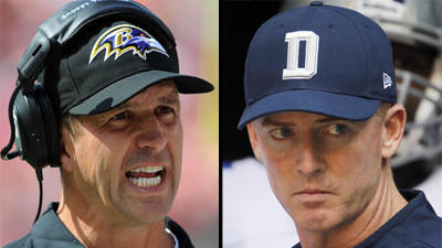 Harbaugh vs. Garrett coaching decision worked out well for Rave…