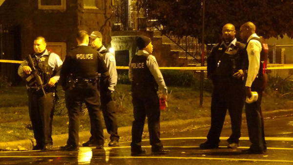 Two people were shot in the 6200 block of South Rhodes Avenue.