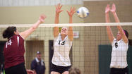 The Presentation College volleyball team closed out the home portion of the season in a tight match at the Strode Center.