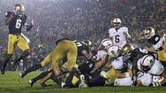 Notre Dame about to move up again after stopping Stanford in OT