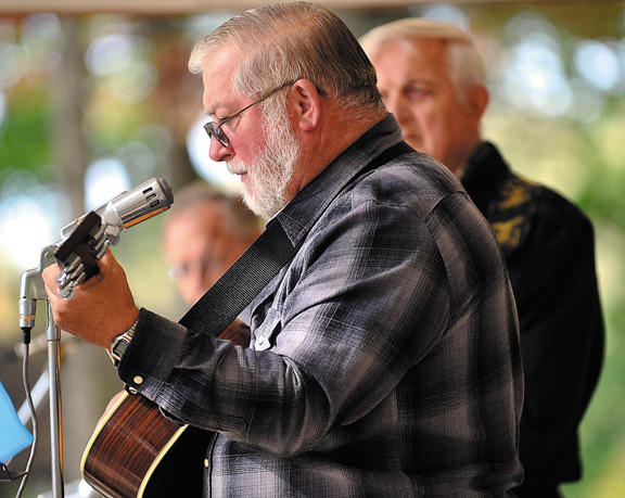 Musicians in Old Tyme Gospel band, as well as Friends Creek Pickers performed Sunday at the annual Fill the Food Banks concert at Red Run Park in Waynesboro, Pa.