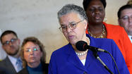 Cook County Board President Toni Preckwinkle is considering a new tax on every slot machine and video poker game in the county as she puts the final touches on the budget proposal she will present Thursday, aides said.
