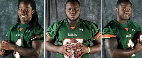 Tevin Spells, Keith Bryant, Brisly Estime of Delray Beach Atlantic