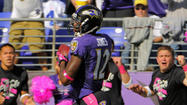 With his long stride carrying him past defenders, Ravens return specialist <strong>Jacoby Jones</strong> followed his blocks and rapidly accelerated away from the Dallas Cowboys.