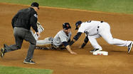 — Early Sunday, Derek Jeter broke his ankle near second base and he screamed in pain. Later Sunday, umpire Jeff Nelson broke open the game with a botched call at that base and New York screamed in disgust.