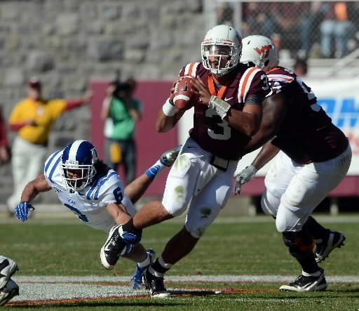 Logan Thomas against Duke on Saturday