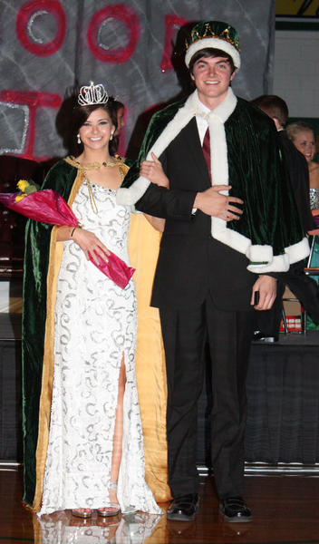 Kendra Woytassek and Dominic King were crowned Aberdeen Roncalli homecoming's lord and lady at a coronation ceremony Wednesday