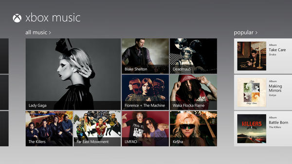 Xbox Music debuts Tuesday on the game console, offering a combination of free music streaming, a subscription option that would allow users to download individual tracks or listen to songs without advertising, as well as a digital music store.
