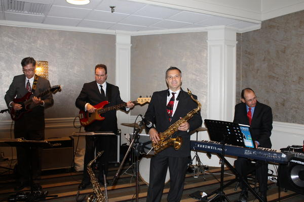 Aetna jazz band Frankenfrenz performed at the luncheon.