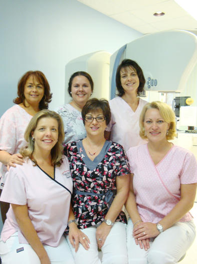 Staff at the Breast Center at Palms West Hospital are helping to diagnose and create awareness for breast cancer. Bottom row, from left, Colleen Campbell, Deborah Stevens and Cambria LaGrange. Top row, from left, Nora Romero, Doris Silva and Tammy Moselly.