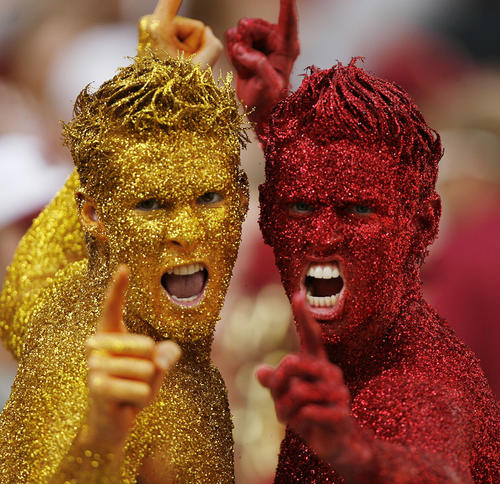FSU fans cheer during the Boston College at Florida State University football game at Doak Campbell Stadium in Tallahassee on Saturday, October 13, 2012.