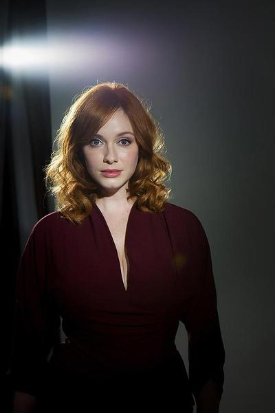 Celebrity portraits by The Times: Emmy-nominated actress Christina Hendricks, who plays Joan Holloway on AMCs Mad Men, is photographed in the L.A. Times studio.  MORE: Christina Hendricks is at ease with Emmy and Mad Men