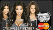 Kim, Kourtney and Khloe Kardashian for the Kardashian Kard