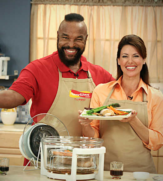 Brad Pitt, Penelope Cruz, Ozzy Osbourne and other weird celebrity endorsements: The former action hero ended up pitching an as-seen-on-TV kitchen appliance in infomercials. Insert your own pity the fool joke here...