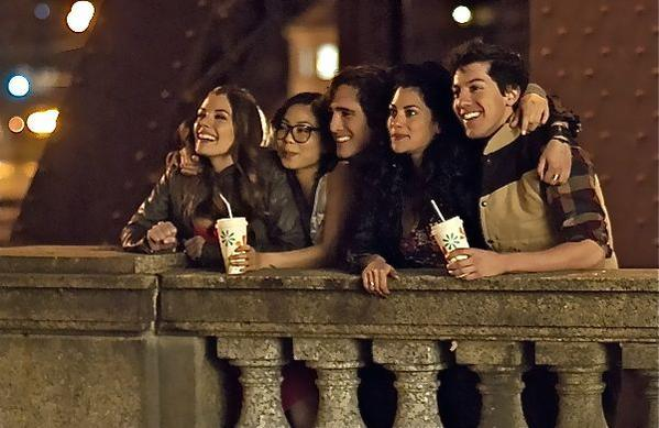 "Michelle Ang, Sarah Habel, Diego Boneta, Inbar Lavi and Jared Kusnitz star in MTV's ""Underemployed."""