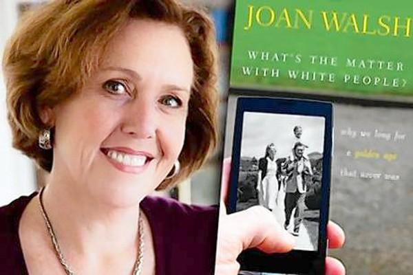 "Joan Walsh, Salon editor and author of ""What's the Matter with White People: Why We Long for a Golden Age That Never Was"", will speak at the Stowe Center in Hartford on Oct. 24 at 7 p.m. Tom Condon of The Courant moderates."