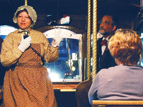 Jenny and John Poniske will share stories on Waynesboro After Dark haunted trolley tours in October and November.