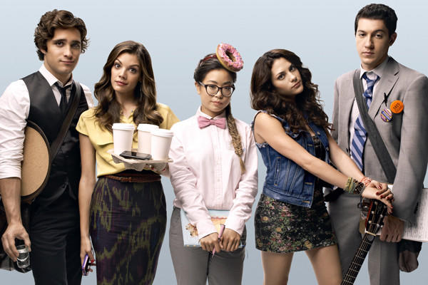 "Diego Boneta, Sarah Habel, Michelle Ang, Inbar Lavi and Jared Kusnitz star in MTV's ""Underemployed."""