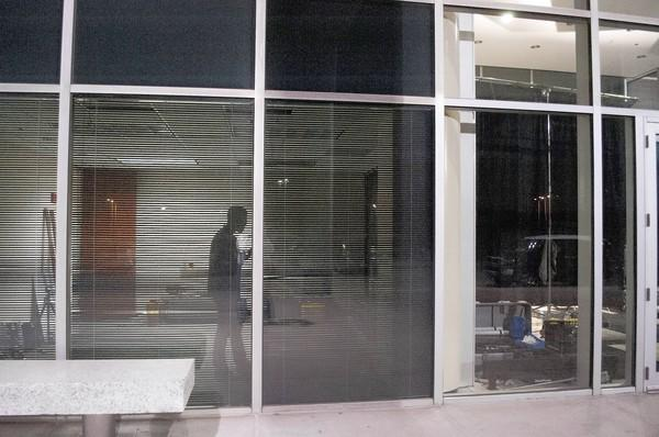 """Half of an office building is used as a video set and half as a staging area for the web series """"Graveyard."""""""