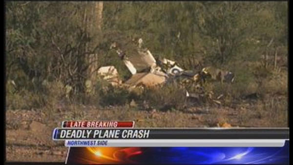 The wreckage of the fatal crash on the far northwest side of Tucson, AZ is scattered over a wide area in remote desert about four miles south of Avra Valley and Agua Dulce Ranch roads.
