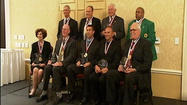 The Virginia High School League inducted its 23rd Hall of Fame class Monday night in Charlottesville. Two local coaches, John Shotwell and Troy Wells, were among the nine inductees.