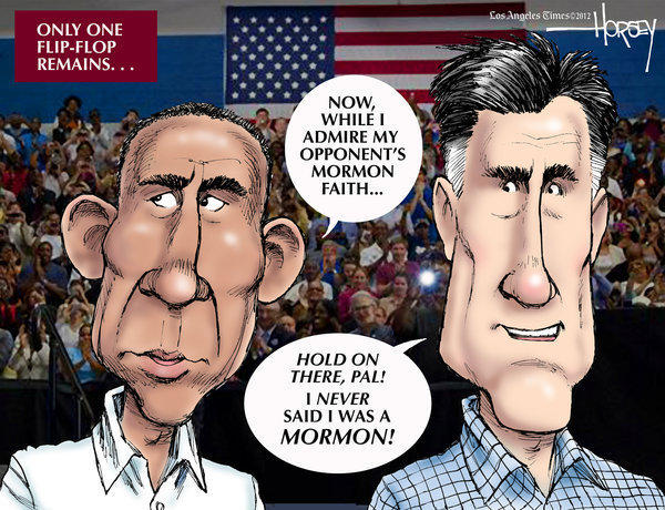Presidential debate: Mitt Romney runs out of flip-flops