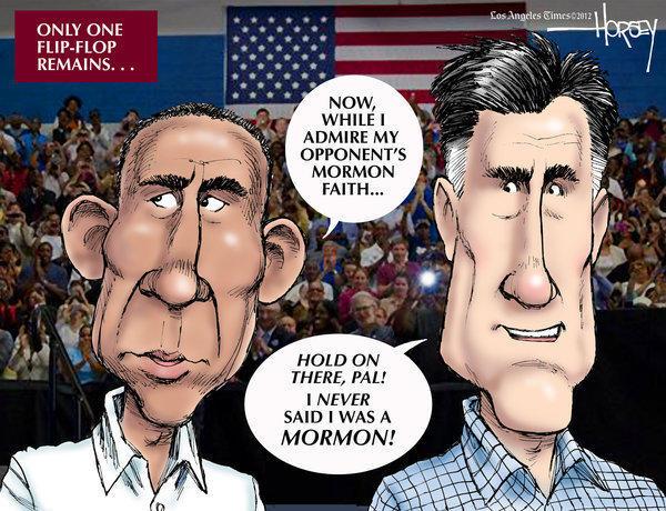 Presidential debate: Mitt Romney runs out of flip-flops