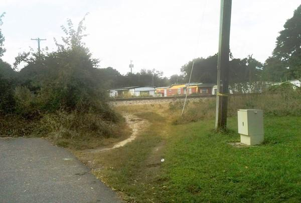 A 10-year-old's leg was severed Sunday during a train accident on Bellwood Road.