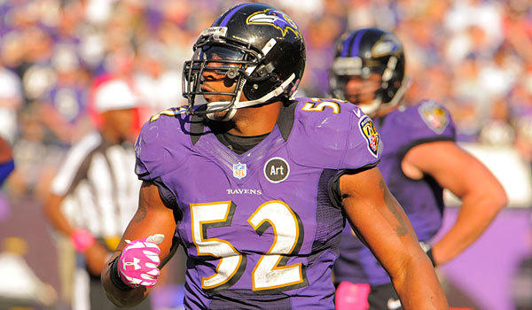 Ravens linebacker Ray Lewis is out for the season with a torn triceps.