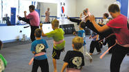 The students at White Tiger Martial Arts in Hagerstown held a kickathon Sept. 15 to raise money for breast cancer awareness.