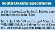 List of S.D. Executions