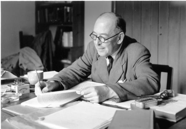 Petoskey's C.S. Lewis Festival is celebrating 10 years. The festival, centered around the author seen here, offers lectures, workshops and performances.