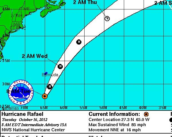 Hurricane Rafael, the ninth hurricane of the year, is expected to brush past Bermuda.