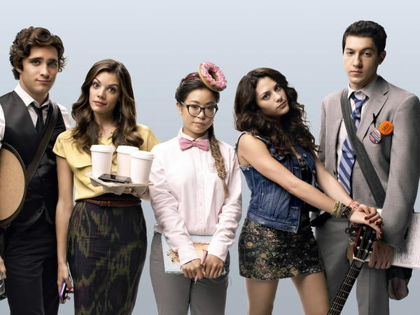 "The cast of the new MTV show ""Underemployed."""