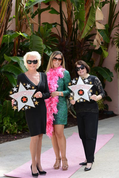 "Patti Carpenter, left, Nadia Weaver and Fern Cole put their best glam forward while promoting Boca Raton Regional Hospital Foundation's ninth annual ""Go Pink Luncheon,"" which will take place on Oct. 26 at the Boca Raton Resort & Club. The event will feature celebrity couple Giuliana and Bill Rancic as the keynote speakers."