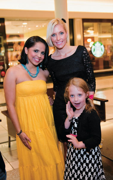 "Stephania Almonte, left, Misti Curcio and Isabella Curcio at the ""Michelle McGann Golf Classic Kickoff Party,"" which recently took place in Grand Court at The Gardens Palm located in Palm Beach. The party was hosted in preparation for the upcoming Nov. 2 ""Golf Classic."" Funds raised will support diabetes awareness and research."