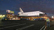 <b>Video:</b> Time-lapse of Endeavour's trek across L.A.
