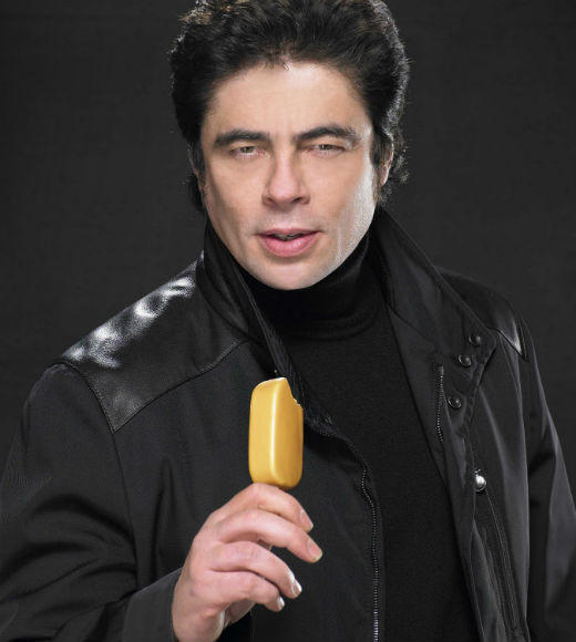 Brad Pitt, Penelope Cruz, Ozzy Osbourne and other weird celebrity endorsements: Del Toro also tries to make ice cream look like le sex. He just gets to be in ads that dont feature quite as much oral fixation.