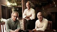 DreamWorks co-founders Steven Spielberg, Jeffrey Katzenberg and David Geffen.