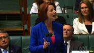 Chicago Tribune reporter Jenniffer Weigel presents a viral video of Australian Prime Minister Julia Gillard's speech labeling Opposition Leader Tony Abbott as a misogynist. (Posted on: Oct. 17, 2012.)