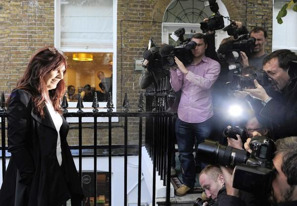 Janis Sharp arrives for a news conference in London about the decision not to extradite her son Gary McKinnon, a confessed computer hacker, to the U.S.