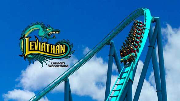 Concept art of Leviathan coaster at Canada's Wonderland
