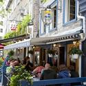 What's more French than sidewalk cafes? Diners in the Old Port area enjoy a July afternoon.
