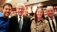 Coffee drinkers in Mount Vernon were graced Tuesday night with the presence of an ex-president: Bill Clinton apparently had to stop by Starbucks while in town for a talk at the Meyerhoff Symphony Hall.