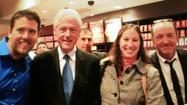 Bill Clinton, Kevin Spacey stop in at Starbucks near UB