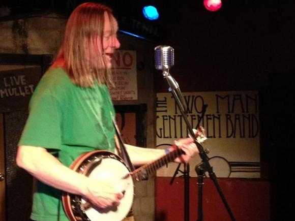 Danny Barnes working banjo magic at the Hampton Taphouse, Oct. 12, 2012.