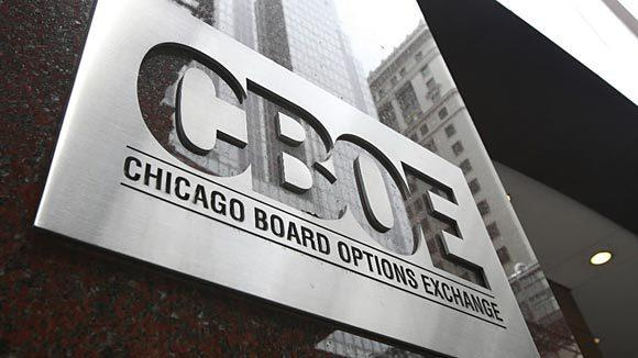 The Chicago Board Options Exchange in Chicago.